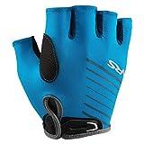 NRS Men's Half-Finger Marine Blue Paddling & Rowing 50+ UPF Boater's Gloves, XXL