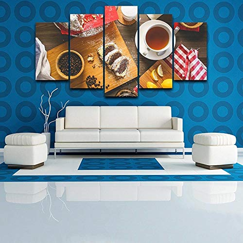 Afdrukken Op Canvas Kunstdruk Op Canvas Hd-Afbeeldingen Frameloze Abstracte Koffie Cake Muur Schilderkunst Woondecoratie Canvas Olieverfschilderij