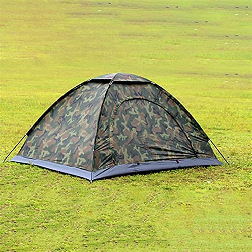 Tienda de campaña portátil Portátil al Aire Libre Camping Doble Personas Tienda Impermeable Camuflaje Tienda Plegable para Viajar Senderismo