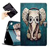 Bspring Fire 7 2015 Funda, Slim Shell Case Cover Carcasa con Función de Stand y Auto-Sueño/Estela para Kindle Fire HD 7 2017(7th Gen) Kindle Fire HD 7 2015(5th Gen) Elefante