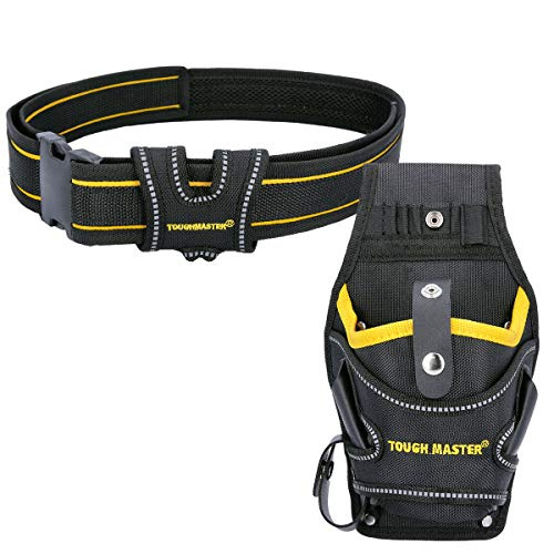 TOUGH MASTER TM-71794 Drill Holster Universal Left Righ Handed with Quick Release Work Tool Belt