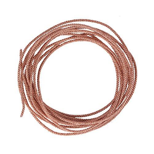 Zerone Lautsprecherkabel, Subwoofer-Kabel, Reparaturkabel, 12 Stränge, geflochtener reiner Kupferdraht (2 Meter)