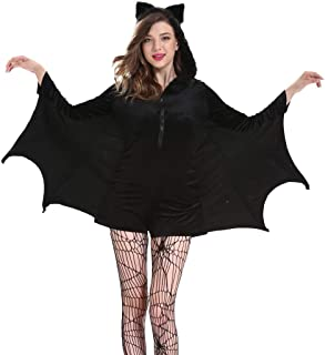 Women's Bat Wing Sleeves Tops Long Sleeve Scoop Collar Plus Size Funny Halloween Costumes Bat Dresses