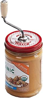 Grandpa Witmer's Old Fashioned Mess-Free Nut Butter and Natural Peanut Butter Mixer, Made in America, BPA Free, Fits 16-Ounce Jars with 3-Inch Lids