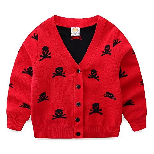 Suéter masculino Mud Kingdom com caveira, Vermelho, 6