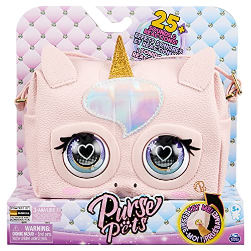 Purse Pets, Glamicorn Unicorn Interactive with Over 25 Sounds and Reactions, Kids Toys for Girls Ages 5 and up