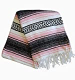 Del Mex Classic Mexican Blanket Vintage Style (Pink)