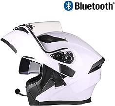 SJAPEX Modulares Cascos con Auricular Bluetooth, Integrales Cascos Desmontable Full-Face Helmet con Viseras Duales, para Motocross Motocicleta Ciclomotor y Scooter, ECE y Dot Homologado