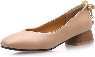 BalaMasa Womens APL11871 Pu Block Heels