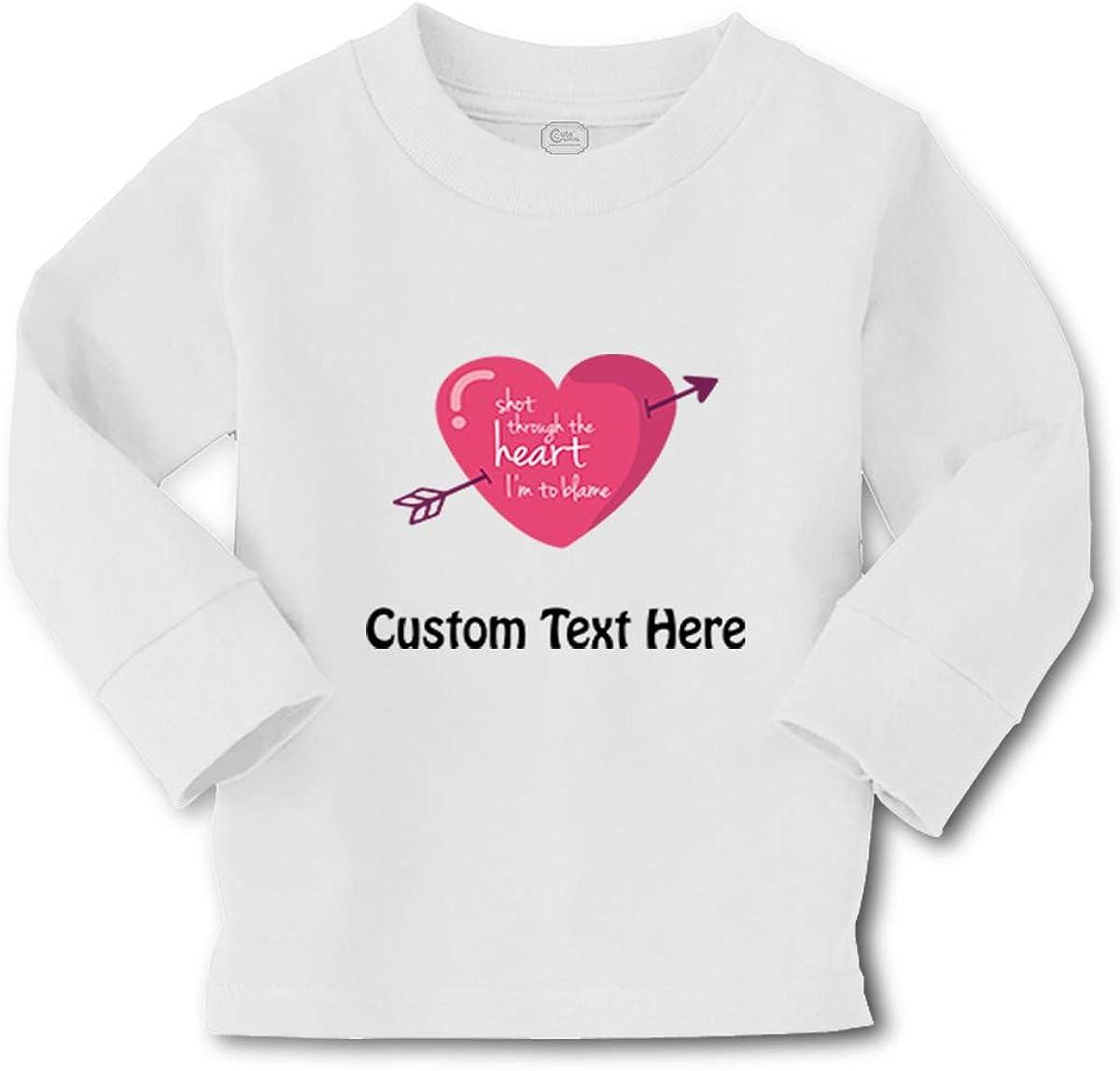 Kids Long Sleeve T Shirt Shot Through The Heart I'm to Blame Boy & Girl Clothes