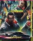 CIBERPUNK77 COMPOSITION NOTEBOOK JOURNAL: ciberpunk 2077 notebook, journal collector edition for school o work