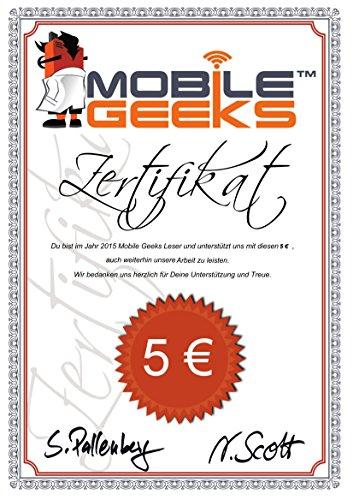 "Mobile Geeks Sponsor-Zertifikat ""5"" (German Edition)"