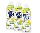 Vernel Naturals Suavizante Ylang Ylang & Hierba dulce, 100% vegano, 99% ingredientes de base natural, sin siliconas ni colorantes (96 (3 x 32) lavados)