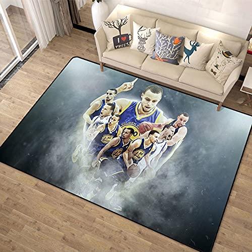 Alfombra De Estrella De Baloncesto Alfombras Impresas Digitales En 3D para Sala De Estar, Alfombra De Piso De Juego para Dormitorio Infantil 180 * 270Cm