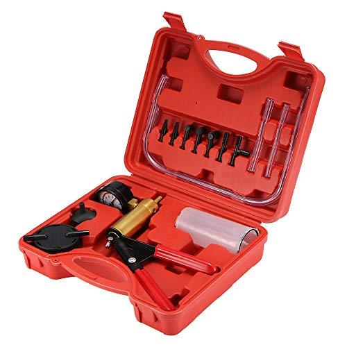 Bremsentlüfter-Set, Bremsenentlüftergerät, Vakuumpumpe Bremsenentlüfter, Bremsentlüftungsset für Auto, LKW und Motorrad