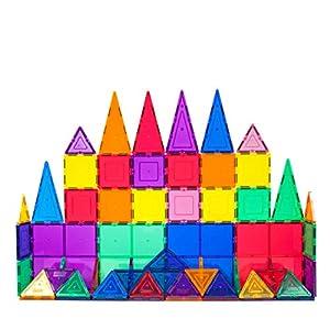 PicassoTiles 60 Piece Set 60pcs Magnet Building Tiles Clear Magnetic 3D Building Blocks Construction Playboards – Creativity Beyond Imagination, Inspirational, Recreational, Educational, Conventional