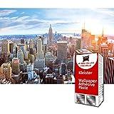 GREAT ART Foto Mural New York Skyline al Atardecer 336 x 238 cm - Papel Pintado 8 Piezas incluye Pasta para pegar