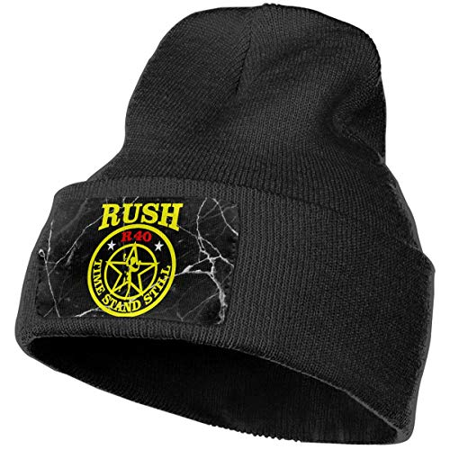 COLLJL-8 Men & Women Neil-Peart Outdoor Stretch Knit Beanies Hat Soft Winter Skull Caps Black