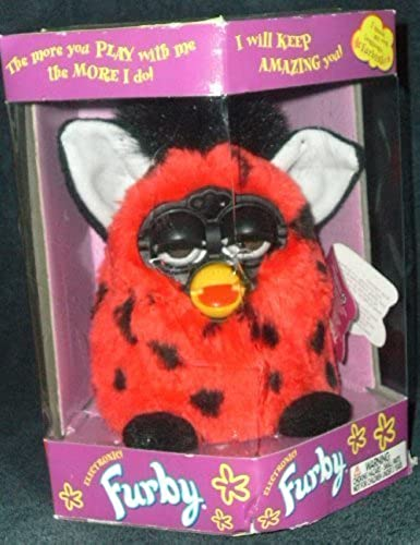 Furby Lady Bug (rot with schwarz Spots) by Tiger (English Manual)