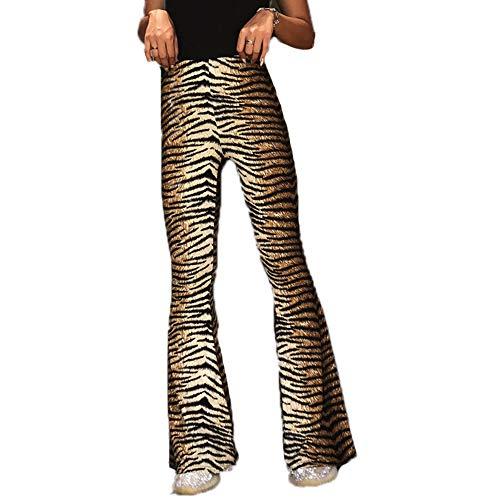 Pantalones de Tendencia Patrón de Estampado Animal Pantalón de Mujer