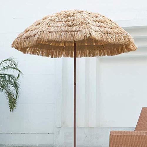 Parasol De Paille À Inclinaison Réglable Protection Solaire Chaume Patio Hawaii De Plage pour Piscine Petit Bistro Jardin Pelouse (sans Base)