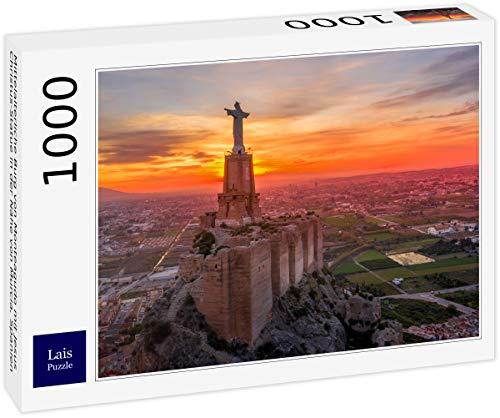 Lais Puzzle Castillo Medieval de Monteagudo con la Estatua de Jesucristo Cerca de Murcia, España 1000 Piezas