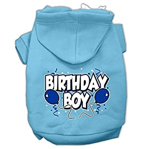 Mirage Pet Products 14″ Birthday Boy Screen Print Pet Hoodie