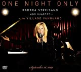 "album cover ""One Night Only Barbra Streisand and Quartet at The Village Vanguard September 26,2009 (DVD with CD)"""
