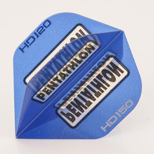 PerfectDarts 5 x Sets of Pentathlon blau Super Tough HD150 Dart Flights, Standard