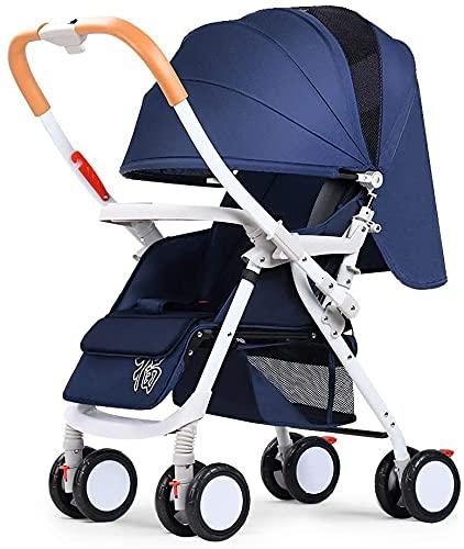 Cochecito de bebé para recién nacido, cochecito convertible Compacto de un solo bebé Carrera para niños Siller de siller de lujo Cochecito de cochecito de lujo y bandeja de cochecitos (color: marrón)