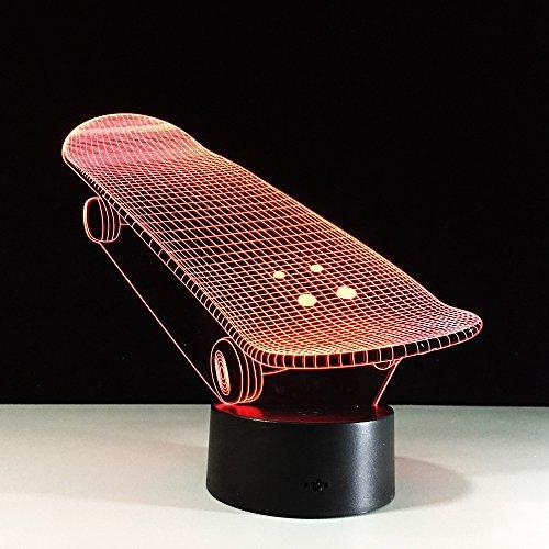 3D Illusion Lampe Led Nachtlicht,Roller 3D Lampe Touch Bunte Nachtlicht Neuheit Produkte Luminaria 3D Led Lampe Lamparas De Mesa Tischlampen