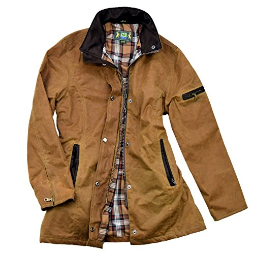 Romneys Damen-Wachsjacke New Ashdown | Farbe: Beige L