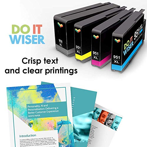Do it Wiser Compatible Ink Cartridge Replacement for HP 951 950XL 951XL 950 HP OfficeJet Pro 8600 8610 8620 8630 8625 8100 8615 8640 8660 251dw 276dw (4-Pack) Photo #5