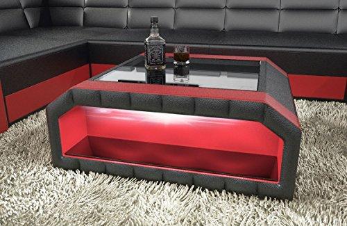 Sofa Dreams Wohnzimmertisch Matera in Leder als Flacher Designer Couchtisch