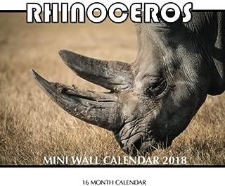 Rhinoceros Mini Wall Calendar 2018: 16 Month Calendar