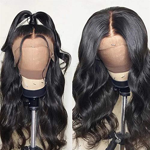 Femmes Perruque de cheveux humains Pré plumé avec bébé cheveux courts Remy naturel du Brésil corps Cheveux ondulés vague perruques for les femmes pour les femmes Cosplay Party