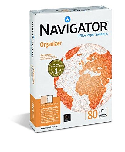 Navigator Organizer, Formato A4, 80 Gr, 2 Fori, Risma da 500 Fogli