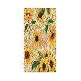 ALAZA Toallas de mano con diseño de girasol, color amarillo, muy absorbentes, para cocina, baño (30 x 15 pulgadas)