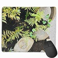 和風庭園と坪庭 マウスパッド 運びやすい オフィス 家 最適 おしゃれ 耐久性 滑り止めゴム底付き 快適操作性 30*25*0.3cm