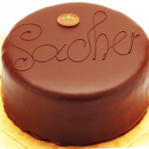 洋菓子店カサミンゴー 最高級洋菓子 ウィーンの銘菓ザッハトルテ 生クリーム付き (誕生日プレートセット, 12cm) 必ず日時指定便をお選びください。