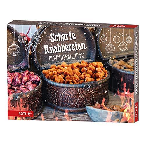 ROTH Scharfe Knabbereien-Adventskalender mit 24xwürzigem Knabberspaß im Advent, 45cm x 34cm x 4cm
