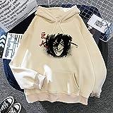 Li Largo Ataque En Titán Shingeki No Kyojin Sudaderas Unisex gráfico de Gran tamaño Divertido de la Camiseta de la Historieta de Hip Hop con Capucha Masculina (Color : 30, Size : X-Small)