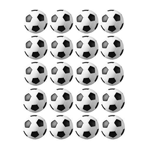 JZK 20 Palline Calcio Balilla 32 mm Stile Calcio Classico Bianco & Nero di plastica Mini Piccole Palle Ricambio per Accessorio Gioco tavola biliardino