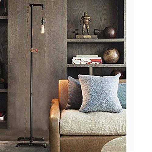 LXGANG Lámpara de pie De pie luminarias Loft América Retro creativa industrial del tubo de agua de trabajo de hierro habitación de la planta luces for la sala de estar dormitorio de noche Incluye bomb