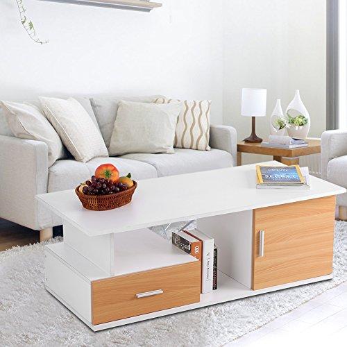 GOTOTOP TV-meubel kast televisietafel TV lowboard televisiekast TV-meubel kast met lade (110x50x38cm) wit