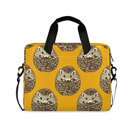 OOWOW - Bolsa para portátil para mujer y hombre, diseño de erizo, ligero, maletín para ordenador portátil de 14 a 15,6 a 16 pulgadas