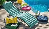 Cojín acolchado para baño de sol, color verde agua,...