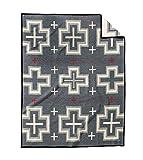 Pendleton San Miguel Warm Wool Patterned Throw Blanket, Grey, King Size