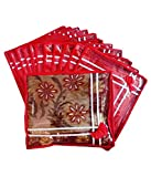 Fashion Bizz Fashion Bizz Red Premium Single Saree Cover 12 Pcs Combo