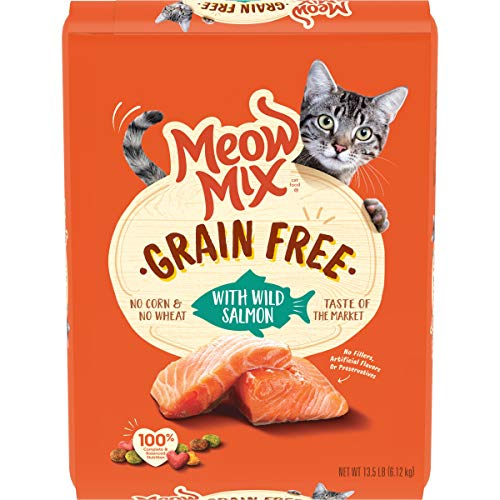 Price comparison product image Meow Mix Grain Free Dry Cat Food,  Wild Salmon,  13.5 Pounds